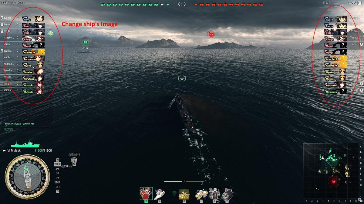 mod] Kancolle Ship Icon for Status UI - Fan Zone - World of Warships